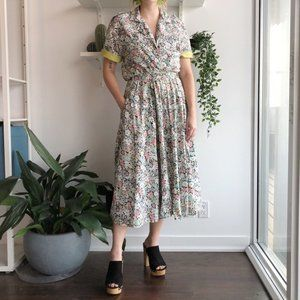 2/25 🍉 floral cotton two piece matching skirt set